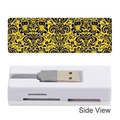 Damask2 Black Marble & Yellow Colored Pencil Memory Card Reader (stick)