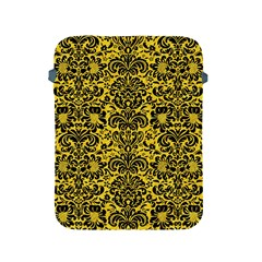 Damask2 Black Marble & Yellow Colored Pencil Apple Ipad 2/3/4 Protective Soft Cases