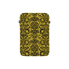 Damask2 Black Marble & Yellow Colored Pencil Apple Ipad Mini Protective Soft Cases