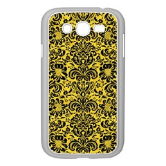 Damask2 Black Marble & Yellow Colored Pencil Samsung Galaxy Grand Duos I9082 Case (white)