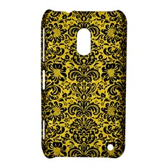 Damask2 Black Marble & Yellow Colored Pencil Nokia Lumia 620