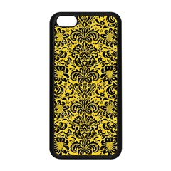Damask2 Black Marble & Yellow Colored Pencil Apple Iphone 5c Seamless Case (black)