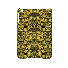 Damask2 Black Marble & Yellow Colored Pencil Ipad Mini 2 Hardshell Cases
