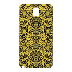 Damask2 Black Marble & Yellow Colored Pencil Samsung Galaxy Note 3 N9005 Hardshell Back Case