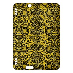 Damask2 Black Marble & Yellow Colored Pencil Kindle Fire Hdx Hardshell Case