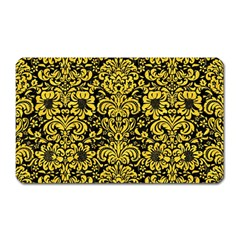 Damask2 Black Marble & Yellow Colored Pencil (r) Magnet (rectangular)