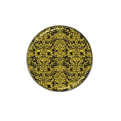 Damask2 Black Marble & Yellow Colored Pencil (r) Hat Clip Ball Marker (10 Pack)