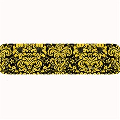Damask2 Black Marble & Yellow Colored Pencil (r) Large Bar Mats