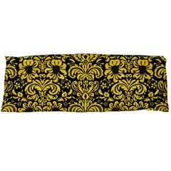 Damask2 Black Marble & Yellow Colored Pencil (r) Body Pillow Case Dakimakura (two Sides)