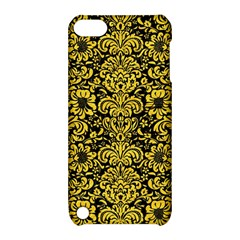 Damask2 Black Marble & Yellow Colored Pencil (r) Apple Ipod Touch 5 Hardshell Case With Stand