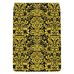 Damask2 Black Marble & Yellow Colored Pencil (r) Flap Covers (l)