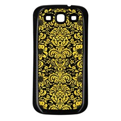 Damask2 Black Marble & Yellow Colored Pencil (r) Samsung Galaxy S3 Back Case (black)