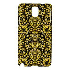 Damask2 Black Marble & Yellow Colored Pencil (r) Samsung Galaxy Note 3 N9005 Hardshell Case