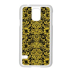 Damask2 Black Marble & Yellow Colored Pencil (r) Samsung Galaxy S5 Case (white)