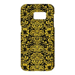 Damask2 Black Marble & Yellow Colored Pencil (r) Samsung Galaxy S7 Hardshell Case