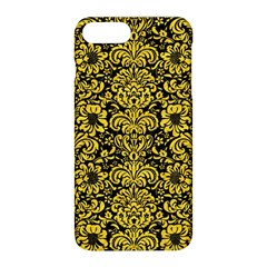 Damask2 Black Marble & Yellow Colored Pencil (r) Apple Iphone 8 Plus Hardshell Case