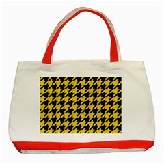 Houndstooth1 Black Marble & Yellow Colored Pencil Classic Tote Bag (red)