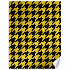 Houndstooth1 Black Marble & Yellow Colored Pencil Canvas 18  X 24