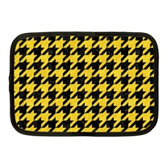 Houndstooth1 Black Marble & Yellow Colored Pencil Netbook Case (medium)