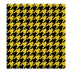 Houndstooth1 Black Marble & Yellow Colored Pencil Shower Curtain 66  X 72  (large)