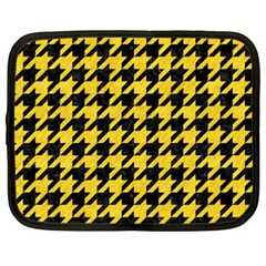 Houndstooth1 Black Marble & Yellow Colored Pencil Netbook Case (xxl)