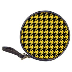 Houndstooth1 Black Marble & Yellow Colored Pencil Classic 20 Cd Wallets