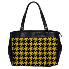 Houndstooth1 Black Marble & Yellow Colored Pencil Office Handbags