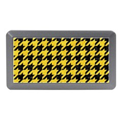Houndstooth1 Black Marble & Yellow Colored Pencil Memory Card Reader (mini)