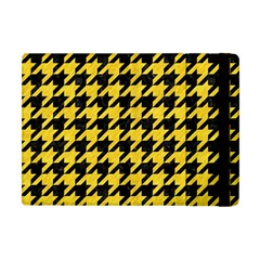Houndstooth1 Black Marble & Yellow Colored Pencil Apple Ipad Mini Flip Case