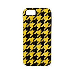 Houndstooth1 Black Marble & Yellow Colored Pencil Apple Iphone 5 Classic Hardshell Case (pc+silicone)