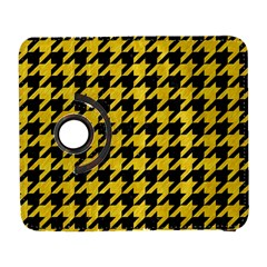 Houndstooth1 Black Marble & Yellow Colored Pencil Galaxy S3 (flip/folio)