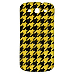 Houndstooth1 Black Marble & Yellow Colored Pencil Samsung Galaxy S3 S Iii Classic Hardshell Back Case