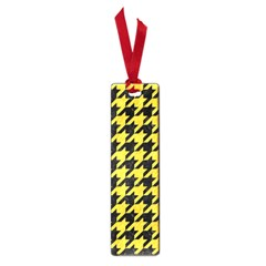 Houndstooth1 Black Marble & Yellow Colored Pencil Small Book Marks