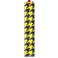 Houndstooth1 Black Marble & Yellow Colored Pencil Large Book Marks