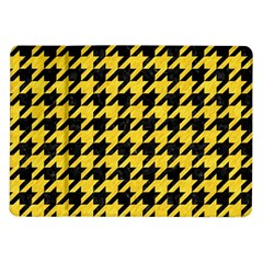 Houndstooth1 Black Marble & Yellow Colored Pencil Samsung Galaxy Tab 10 1  P7500 Flip Case
