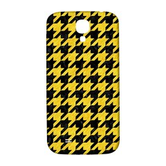 Houndstooth1 Black Marble & Yellow Colored Pencil Samsung Galaxy S4 I9500/i9505  Hardshell Back Case