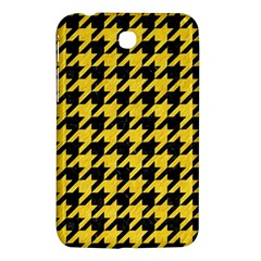 Houndstooth1 Black Marble & Yellow Colored Pencil Samsung Galaxy Tab 3 (7 ) P3200 Hardshell Case