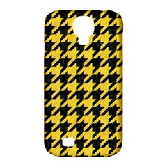 Houndstooth1 Black Marble & Yellow Colored Pencil Samsung Galaxy S4 Classic Hardshell Case (pc+silicone)