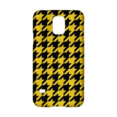 Houndstooth1 Black Marble & Yellow Colored Pencil Samsung Galaxy S5 Hardshell Case
