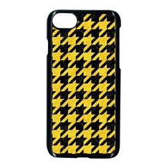 Houndstooth1 Black Marble & Yellow Colored Pencil Apple Iphone 8 Seamless Case (black)