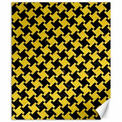 Houndstooth2 Black Marble & Yellow Colored Pencil Canvas 8  X 10