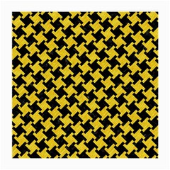 Houndstooth2 Black Marble & Yellow Colored Pencil Medium Glasses Cloth
