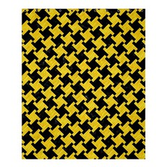 Houndstooth2 Black Marble & Yellow Colored Pencil Shower Curtain 60  X 72  (medium)