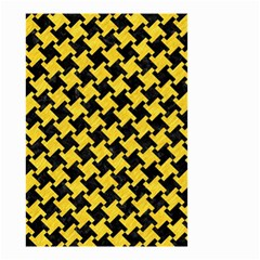 Houndstooth2 Black Marble & Yellow Colored Pencil Small Garden Flag (two Sides)
