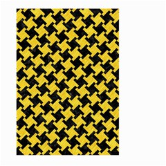 Houndstooth2 Black Marble & Yellow Colored Pencil Large Garden Flag (two Sides)