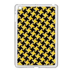 Houndstooth2 Black Marble & Yellow Colored Pencil Apple Ipad Mini Case (white)
