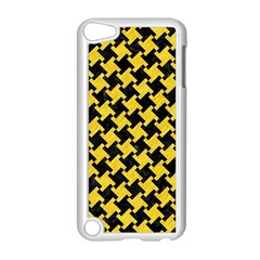 Houndstooth2 Black Marble & Yellow Colored Pencil Apple Ipod Touch 5 Case (white)