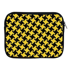 Houndstooth2 Black Marble & Yellow Colored Pencil Apple Ipad 2/3/4 Zipper Cases