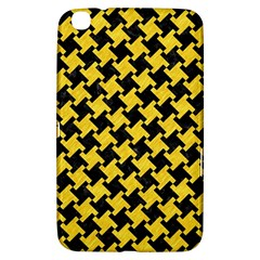 Houndstooth2 Black Marble & Yellow Colored Pencil Samsung Galaxy Tab 3 (8 ) T3100 Hardshell Case
