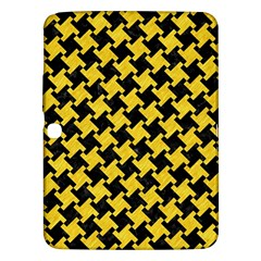 Houndstooth2 Black Marble & Yellow Colored Pencil Samsung Galaxy Tab 3 (10 1 ) P5200 Hardshell Case